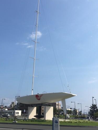 世界最高峰ヨットレース・アメリカズカップ 日本チームの練習艇