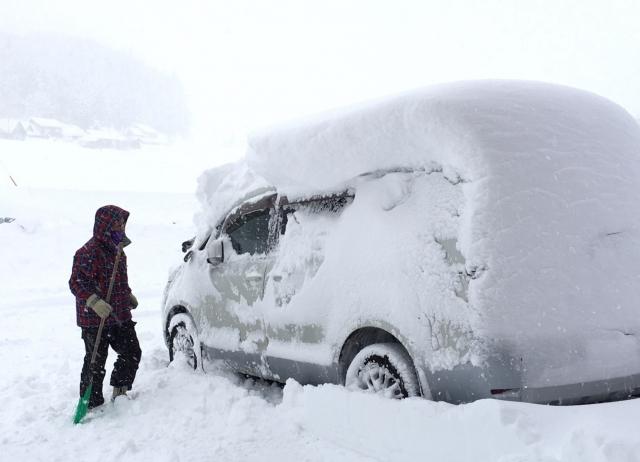 レンタカー雪道