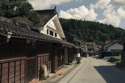 岡山県 吹屋の風景 町並み