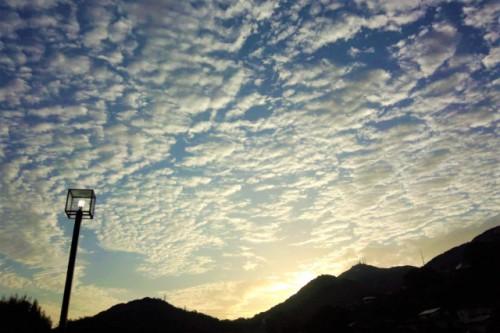 皿倉山からの朝陽