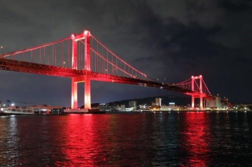 若戸大橋ライトアップ 北九州