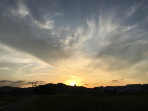 福岡県筑紫野市の夕陽